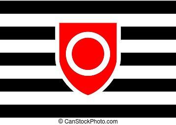 Flag, rectangular shape icon on white background