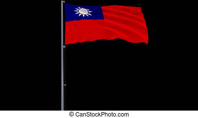 Flag Republic of China - Taiwan on transparent background,...