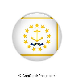 Flag Rhode Island button