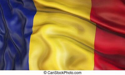 Flag, Romania, Waiving Flag of Romania