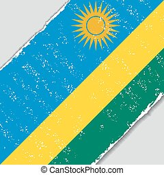 flag., rwanda, wektor, grunge, illustration.