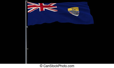 Flag Saint Helena on transparent background, 4k prores 4444...