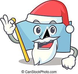 flag saint lucia on the santa claus cartoon
