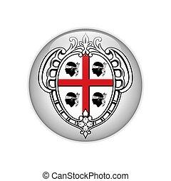 Flag Sardegna-Stemma on button