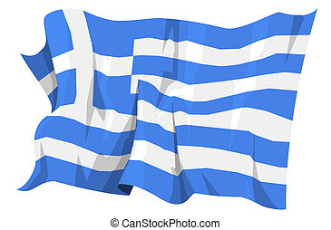 Flag series: Greece - Computer generated illustration of the...