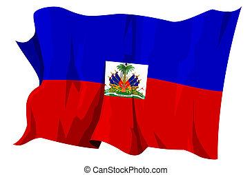 Flag series: Haiti - Computer generated illustration of the...