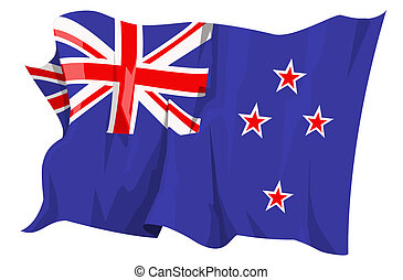 Flag series: New Zealand - Computer generated illustration ...