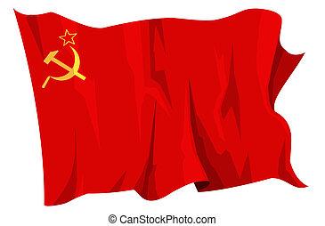 Flag series: Soviet Union - Computer generated illustration ...