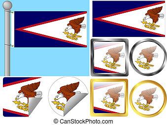 Flag Set American Samoa