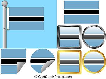 Flag Set Botswana