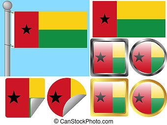 Flag Set Guinea-Bissau