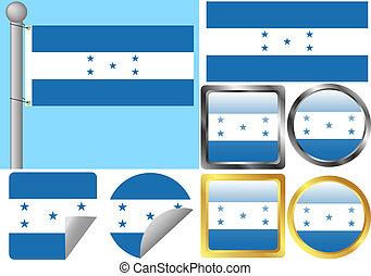 Flag Set Honduras