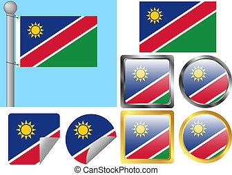 Flag Set Namibia