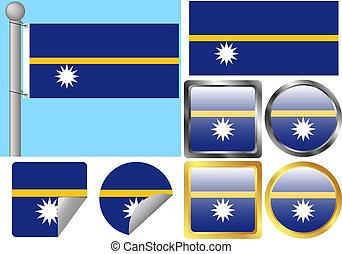 Flag Set Nauru