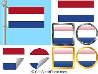 Flag Set Netherlands