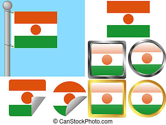 Flag Set Niger