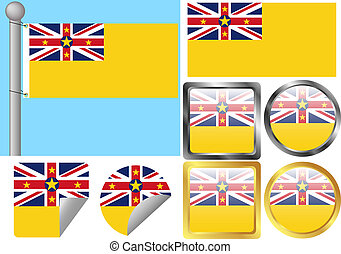Flag Set Niue