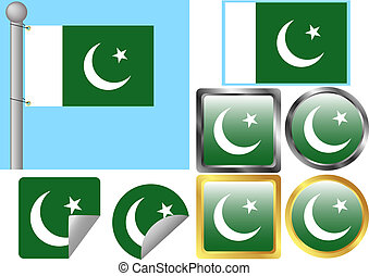 Flag Set Pakistan
