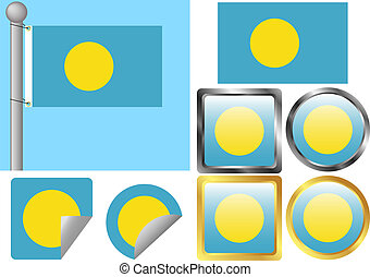 Flag Set Palau