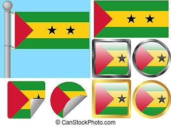 Flag Set Sao Tome and Principe