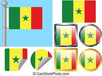 Flag Set Senegal