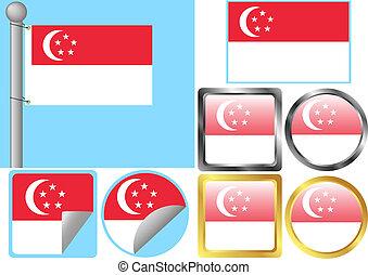 Flag Set Singapore