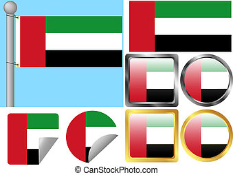 Flag Set United Arab Emirates