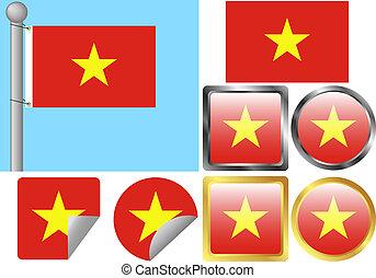 Flag Set Vietnam