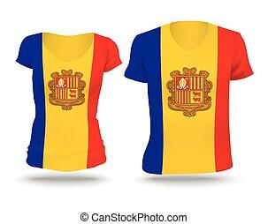 Flag shirt design of Andorra