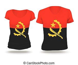 Flag shirt design of Angola