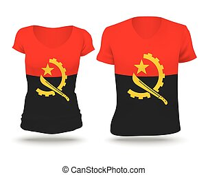 Flag shirt design of Angola