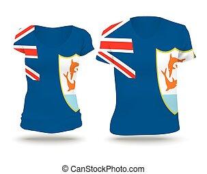 Flag shirt design of Anguilla