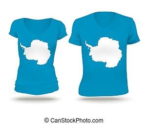Flag shirt design of Antarctica