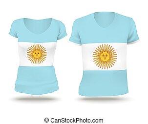 Flag shirt design of Argentina