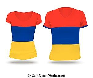 Flag shirt design of Armenia