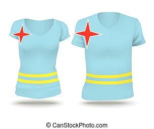 Flag shirt design of Aruba