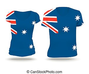 Flag shirt design of Australia
