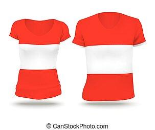 Flag shirt design of Austria