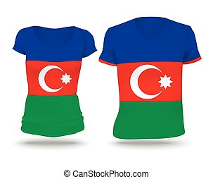 Flag shirt design of Azerbaijan