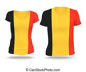 Flag shirt design of Belgium