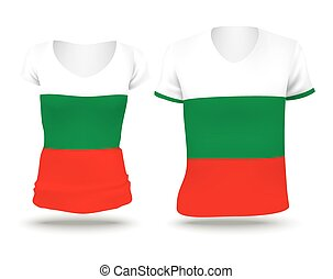 Flag shirt design of Bulgaria