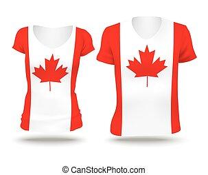 Flag shirt design of Canada