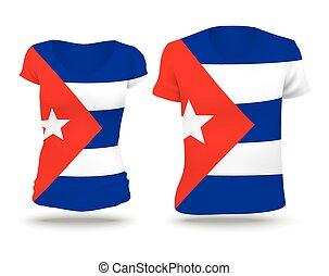 Flag shirt design of Cuba
