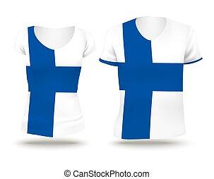 Flag shirt design of Finland