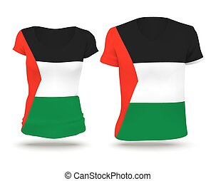 Flag shirt design of Gaza Strip - vector illustration