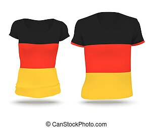 Flag shirt design of Germany