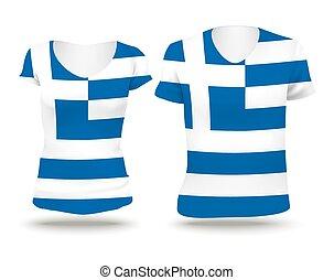 Flag shirt design of Greece