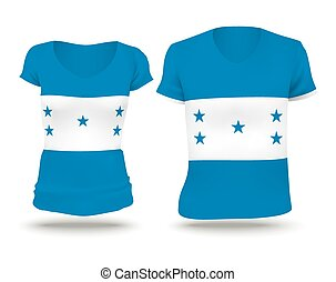 Flag shirt design of Honduras