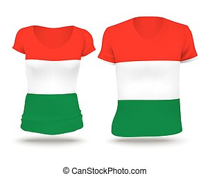 Flag shirt design of Hungary
