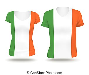 Flag shirt design of Ireland